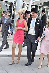 The HON.HARRY HERBERT and his daughter CHLOE HERBERT at the Investec Derby at Epsom Racecourse, Epsom Downs, Surrey on 4th June 2011.