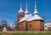 Łemkowska cerkiew św. Dymitra w Boguszy.<br /> Lemkos Orthodox Church Dmitri in Bogusza.
