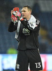 Birmingham City goalkeeper David Stockdale applauds the fans after the final whistle