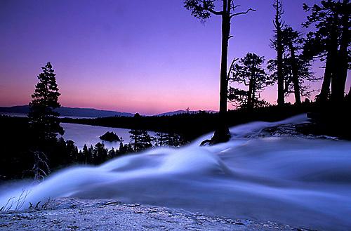 Twilight at Eagle Falls.  Emerald Bay, Lake Tahoe, CA