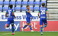 Wigan Athletic's Michael Jacobs celebrates scoring his sides 2nd goal<br /> <br /> Photographer Dave Howarth/CameraSport<br /> <br /> The EFL Sky Bet Championship - Wigan Athletic v Blackburn Rovers - Saturday 27th June 2020 - DW Stadium - Wigan<br /> <br /> World Copyright © 2020 CameraSport. All rights reserved. 43 Linden Ave. Countesthorpe. Leicester. England. LE8 5PG - Tel: +44 (0) 116 277 4147 - admin@camerasport.com - www.camerasport.com