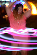 Glowing hula hoops at Bumbershoot 2013 in Seattle, WA USA
