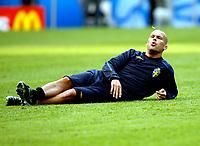 GEPA-0906086839 - SALZBURG,AUSTRIA,09.JUN.08 - FUSSBALL - UEFA Europameisterschaft, EURO 2008, Nationalteam Schweden, Abschlusstraining. Bild zeigt Fredrik Ljungberg (SWE).<br />Foto: GEPA pictures/ Felix Roittner