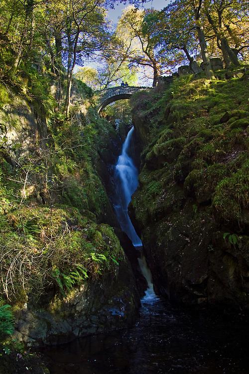 Aira Force Waterfall, Lake District, England, United Kingdom