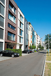 Modern upmarket townhouses in Mitte district of Berlin Germany