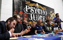 Competitors take part in the Psycho Juice challenge - Mandatory byline: Robbie Stephenson/JMP - 25/05/2016 - RUGBY UNION - Ashton Gate Stadium - Bristol, England - Bristol Rugby v Doncaster Knights - Greene King IPA Championship Play Off FINAL 2nd Leg.