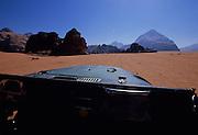 Jeep ride across the desert - Wadi Rum,  Jordan.