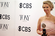 June 10, 2017-New York, New York-United States: Actress Cynthia Nixon attends the 71st Annual Tony Awards Media Room held at Radio City on June 11, 2017 in New York City. The Tony Awards recognize achievement in Broadway productions during the 2016–17 season.  (Photo by Terrence Jennings/terrencejennings.com)