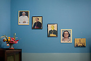 Wall inside the Catholic church, Cubatão