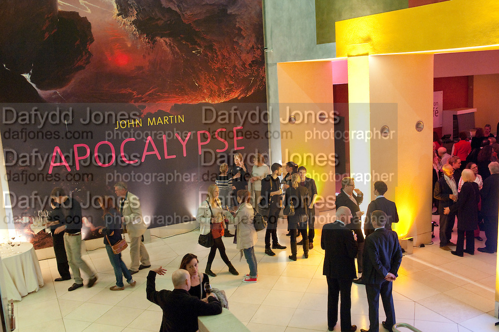 David Tremlett'S wall drawing for Tate Britain's Manton staircase , John Martin: Apocalypse. Tate Britain. Millbank. London. 19 September 2011.<br /> <br />  , -DO NOT ARCHIVE-© Copyright Photograph by Dafydd Jones. 248 Clapham Rd. London SW9 0PZ. Tel 0207 820 0771. www.dafjones.com.