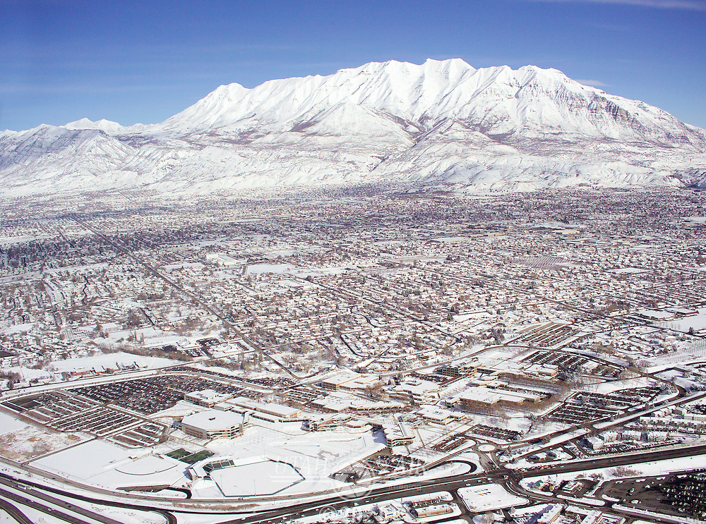 Utah Valley State College and Timpanogos in the background