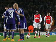 Arsenal's Danny Welbeck looks on dejected after Anderlecht's second goal<br /> <br /> - Champions League Group D - Arsenal vs Anderlecht- Emirates Stadium - London - England - 4th November 2014  - Picture David Klein/Sportimage