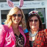 REPRO FREE<br /> Claire Levis and Niamh, Spillane, Carrigaline pictured at the 43nd Kinsale Gourmet Festival Mad Hatters Taste of Kinsale.<br /> Picture. John Allen