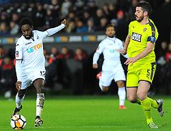 Richard Duffy of Notts County chases down Nathan Dyer of Swansea City - Mandatory by-line: Nizaam Jones/JMP - 06/02/2018 - FOOTBALL - Liberty Stadium - Swansea, Wales - Swansea City v Notts County - Emirates FA Cup fourth round proper