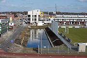 Wijk in aanbouw, wonen in vinexlocatie Leidschenveen, Den Haag.Building a suburb near The Hague