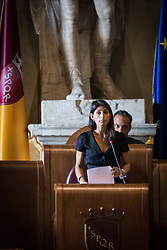 September 7, 2017 - Rome, Italy - City Council on the Atac crisis,protests Atac workers, during the municipal council. (Credit Image: © Andrea Ronchni/Pacific Press via ZUMA Wire)