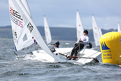 Day 4 NeilPryde Laser National Championships 2014 held at Largs Sailing Club, Scotland from the 10th-17th August.<br /> <br /> 183264, Savva TRETYAKOV<br /> <br /> Image Credit Marc Turner