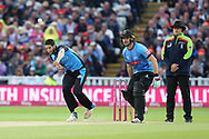 Worcestershire Rapids Wayne Parnell during the final of the Vitality T20 Finals Day 2018 match between Worcestershire rapids and Sussex Sharks at Edgbaston, Birmingham, United Kingdom on 15 September 2018.
