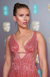 Scarlett Johansson attending the 73rd British Academy Film Awards held at the Royal Albert Hall, London. Photo credit should read: Doug Peters/EMPICS Entertainment