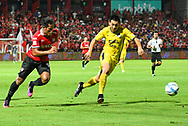 NONTHABURI, THAILAND - JULY 02: Siroch of SCG Muangthong United and Sarawut of Pattaya United in action during the second half of the Thai League: SCG Muangthong United vs Pattaya United at SCG Stadium, Nonthaburi, Thailand on July 02, 2017.<br /> .<br /> .<br /> .<br /> (Photo by: Naratip Golf Srisupab/SEALs Sports Images)<br /> .<br /> Any image use must include a mandatory credit line adjacent to the content which should read: Naratip Golf Srisupab/SEALs Sports Images