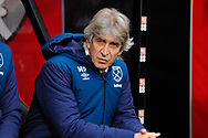 West Ham Utd manager Manuel Pellegrini during the Premier League match between Bournemouth and West Ham United at the Vitality Stadium, Bournemouth, England on 19 January 2019.