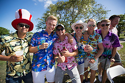 February 25, 2018 - Palm Beach Gardens, Florida, U.S. - Fans on the 6th hole during the final round of the Honda Classic at PGA National Resort and Spa in Palm Beach Gardens, Florida on February 25, 2018. (Credit Image: © Allen Eyestone/The Palm Beach Post via ZUMA Wire)