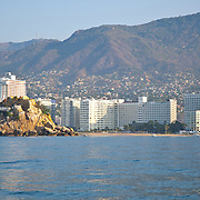 View of Acapulco bay from boat. Guerrero,Mexico.