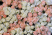 close up of Silk rose flower bouquet