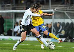 26.10.2011, Millerntor-Stadion, Hamburg, GER, FSP, Deutschland vs Schweden, im Bild Annike Krahn (Deutschland #5), Linda Forsberg (Schweden #16..// during the friendly match Deutschland vs Schweden on 2011/10/26, Millerntor-Stadion, Hamburg, Germany..EXPA Pictures © 2011, PhotoCredit: EXPA/ nph/  Frisch       ****** out of GER / CRO  / BEL ******