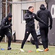 NLD/Rotterdam/20180301 - Training Feyenoord voor de bekerfinale, ............ en Sofyan Amrabat