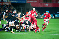 Rugby Union - 2017 / 2018 Guinness Pro14 - Ospreys vs. Scarlets<br /> <br /> Rhys Webb of Ospreys passes the ball out, at Liberty Stadium.<br /> <br /> COLORSPORT/WINSTON BYNORTH