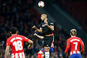 Valencia's French midfielder Steven Nzonzi heads the ball during the Spanish Cup, Copa del Rey quarter final, 1st leg football match between Atletico Madrid and Sevilla FC on January 17, 2018 at Wanda Metropolitano stadium in Madrid, Spain - Photo Benjamin Cremel / ProSportsImages / DPPI