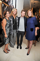 Left to right, ALEXANDRA SHULMAN editor of Vogue, Angela Ahrendts Chief executive of Burberry, CHRISTOPHER BAILEY and SARAH BROWN wife of Prime Minister Gordon Brown at a reception hosted by Vogue and Burberry to celebrate the launch of Fashions Night Out - held at Burberry, 21-23 Bond Street, London on 10th September 2009.