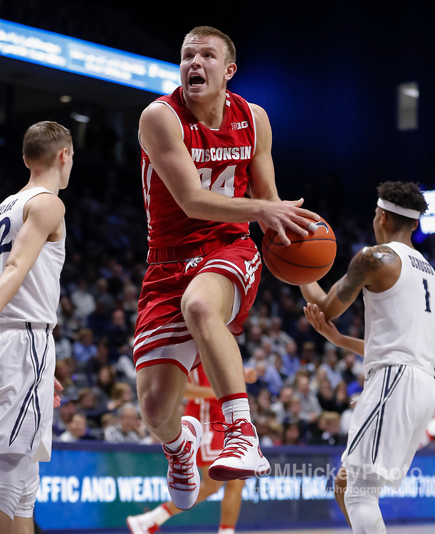 CINCINNATI, OH - NOVEMBER 13: Brad Davison #34 of the Wisconsin Badgers shoots the ball during the game against the Xavier Musketeers at Cintas Center on November 13, 2018 in Cincinnati, Ohio. (Photo by Michael Hickey/Getty Images) *** Local Caption *** Brad Davison