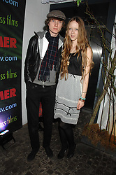Model MORWENNA LYTTON COBBOLD and MATTHEW LASKEY at the launch Beyond The Rave - Hammer's first horror movie in 30 years, held at Shoreditch House, London on 16th April 2008.<br />