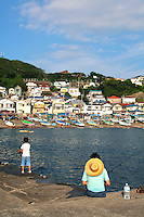 Japanese Fishing at Kotsubo Port,  Kotsubo is officially a part of Zusi City, but is adjacent to Kamakura and a popular fishing port.