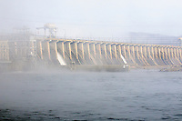 The Conowingo dam, crosses the susquehanna river in northern Maryland, USA.