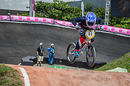 #11 (POST Alise) USA at the 2016 UCI BMX World Championships in Medellin, Colombia.