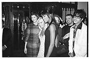 Helena Christensen, Donatella Versace and Naomi Campbell at James Truman party for Malcolm Mclaren, New York 1995© Copyright Photograph by Dafydd Jones 66 Stockwell Park Rd. London SW9 0DA Tel 020 7733 0108 www.dafjones.com