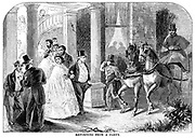 Returning from a Party From Godey's Lady's Book and Magazine, January 1864, Philadelphia, Louis A. Godey, Sarah Josepha Hale,