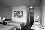 23/05/1963<br /> 05/23/1963<br /> 23 May 1963<br /> The Intercontinental Hotel, Dublin.<br /> Images of the recently opened Intercontinental hotel for the Cork Examiner. Image shows one of the bedrooms in the hotel.