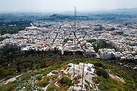 Athens, Greece. View from Mount Lycabettus, the highest point in the city.