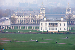 © Licensed to London News Pictures. 06/11/2020.  <br /> Greenwich, UK. People walking in front of the Queen's House in Greenwich Park, London making the most of their lockdown exercise on a cold November morning. Photo credit:Grant Falvey/LNP