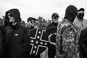 """10282017 - Shelbyville, Tennessee, USA: White Nationalist groups gather for a """"White Lives Matter"""" rally."""