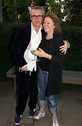 Artists DAMIEN HIRST and RACHEL WHITEREAD at the Serpentine Gallery Summer party sponsored by Yves Saint Laurent held at the Serpentine Gallery, Kensington Gardens, London W2 on 11th July 2006.<br /><br />NON EXCLUSIVE - WORLD RIGHTS