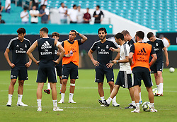 July 30, 2018 - Miami Gardens, Florida, USA - Real Madrid C.F. players during an open training session for the International Champions Cup match between Real Madrid C.F. and Manchester United F.C. at the Hard Rock Stadium in Miami Gardens, Florida. (Credit Image: © Mario Houben via ZUMA Wire)