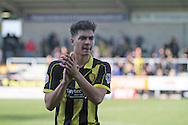 Burton substitute No.18 Tyler Walker clapping the fans after the Sky Bet League 1 match between Burton Albion and Bury at the Pirelli Stadium, Burton upon Trent, England on 2 April 2016. Photo by Nigel Cole.