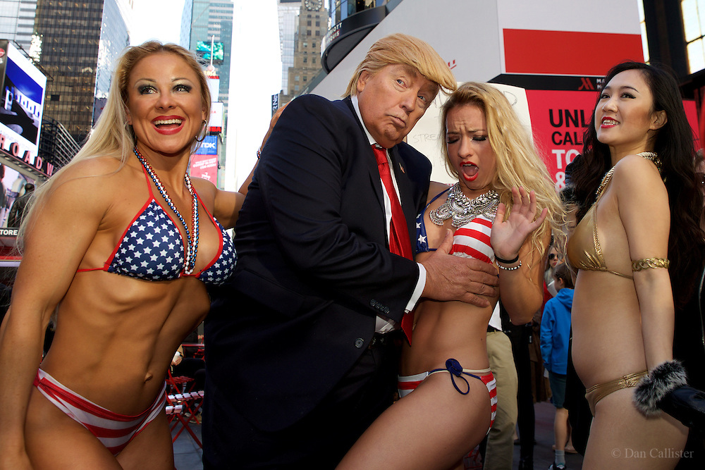 """Photograph by © Dan Callister <br /> www.dancallister.com<br /> Globally renowned artist Alison Jackson October 25, 2016  brings to the streets of New York """"Donald Trump"""" as he's never yet quite been seen.  Acclaimed for caricaturing celebrities and politicians through her stunning and creative use of lookalikes, Alison unleashes perhaps her most ominous satire yet as """"The Donald"""" cruises through New York in his presidential cavalcade.<br /> [Exclusive]<br /> [ Pictures]<br /> **© DAN CALLISTER. FEE MUST BE AGREED BEFORE USAGE. NO WEB USAGE WITHOUT APPROVAL. ALL RIGHTS RESERVED** <br /> Tel: +1 347 649 1755<br /> Mob: +1 917 589 4976<br /> E-mail: dan@dancallister.com<br /> Web:  www.dancallister.com<br /> 3149 41st St, #3rd Floor, Astoria, NY 11103 USA<br /> Photograph by © DAN CALLISTER  www.dancallister.com"""