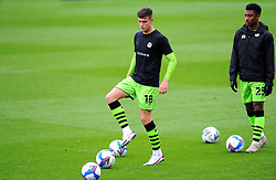 Jake Young of Forest Green Rovers warms up prior to kick-off- Mandatory by-line: Nizaam Jones/JMP - 17/10/2020 - FOOTBALL - innocent New Lawn Stadium - Nailsworth, England - Forest Green Rovers v Stevenage - Sky Bet League Two
