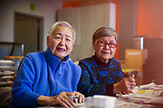 Senior Women Doing Painting Activity